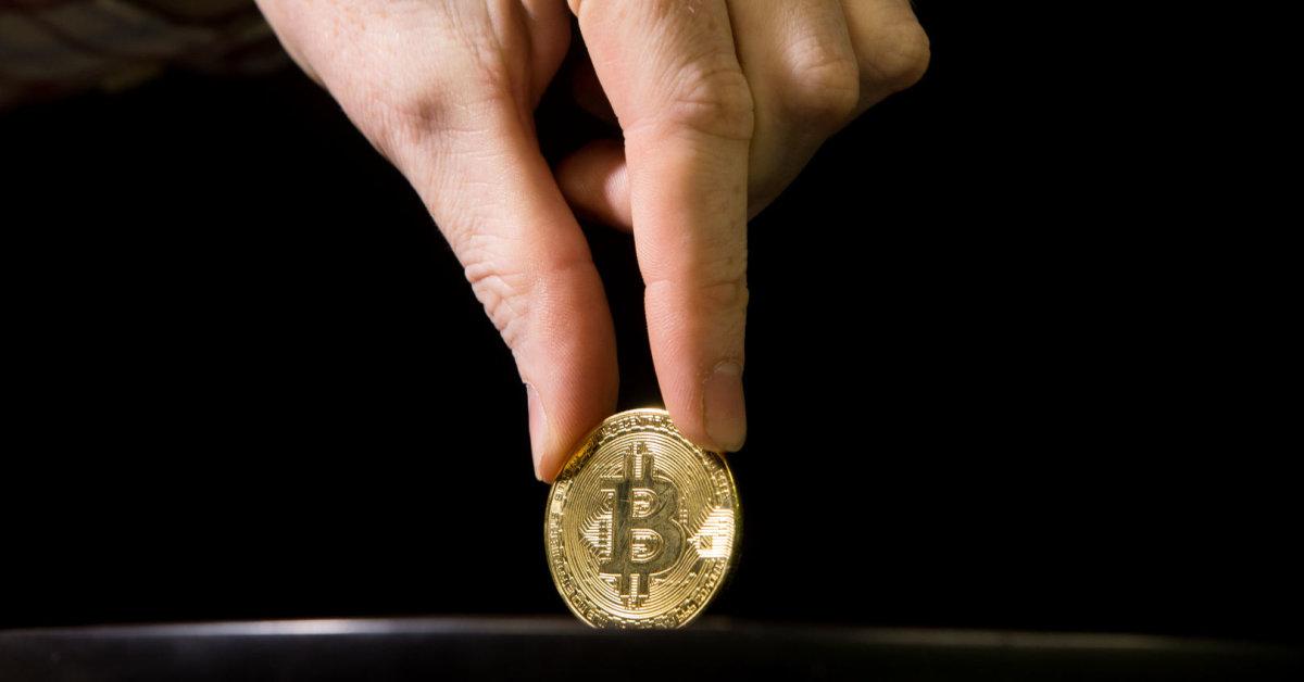 Pasirenkant piniginę bitkoinui.