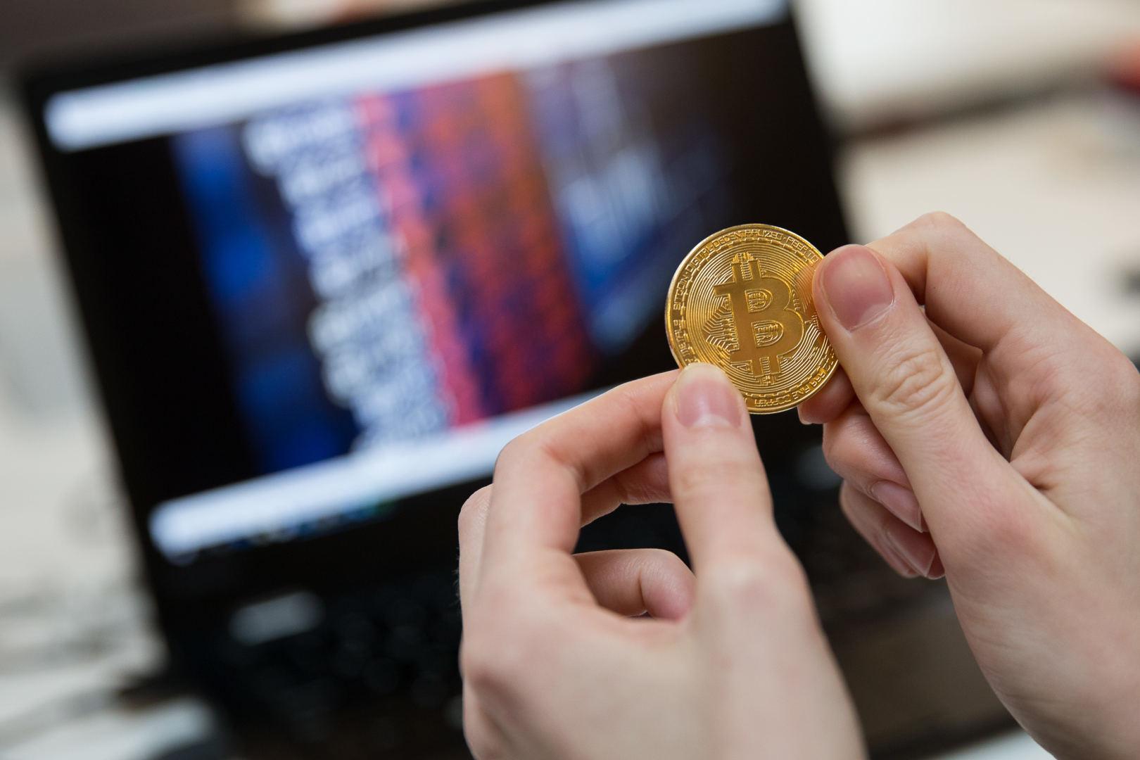 įveskite bitkoiną