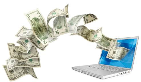 uždarbis internete, atsiimant realius pinigus