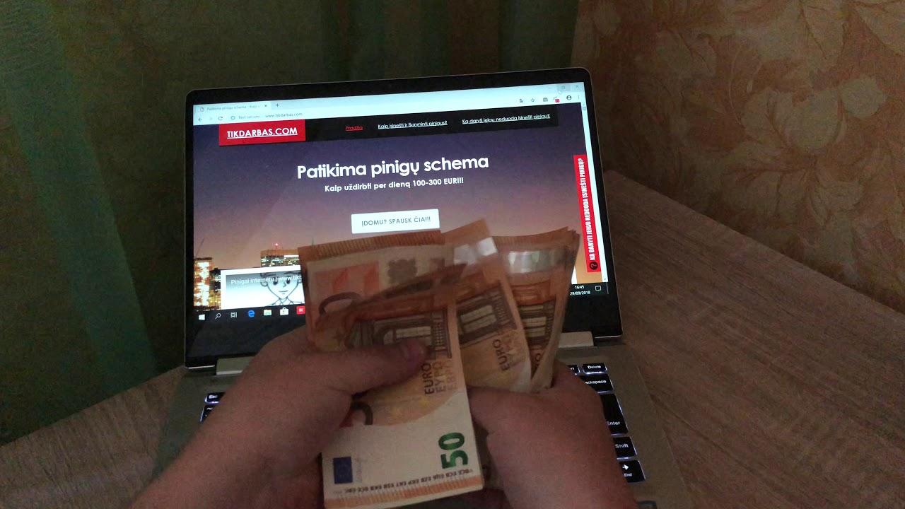 užsidirbkite pinigų internete be įmokų
