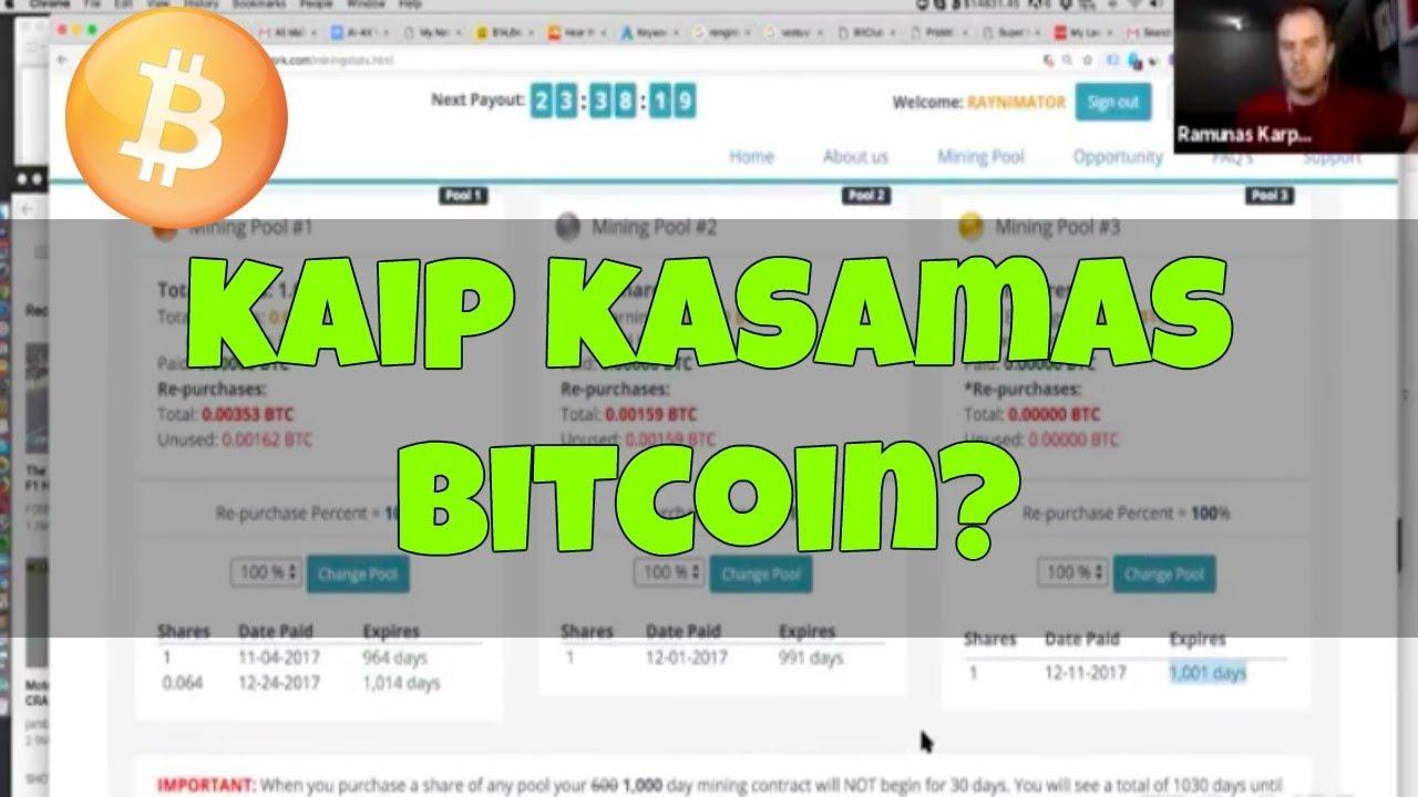 kaip gauti bitcoin adresą