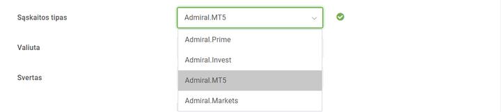 akcijų sąskaitos demonstracinė versija