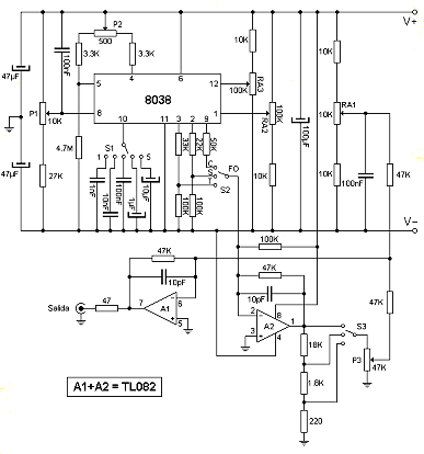 Įvairių formų signalų generatorius (mikroschema ICL8038)